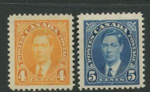 Canada - Scott 234-35 - Definitive Issue- 1937 - MH - 2 Stamps