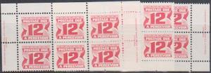 Canada USC #J36a Mint 12c Carmine PVA MS Imprints at Sides. VF-NH