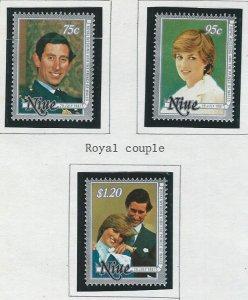 Niue MNH 340-2 Royal Wedding Princess Diana SCV 2.05