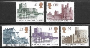 Doyle's_Stamps: Gem Set of MNH Queen Elizabeth II Castles #1445** to #1448**
