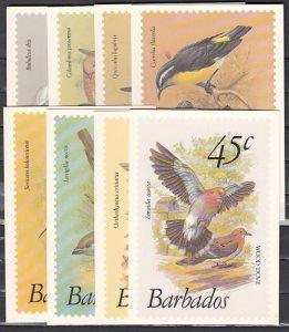 Barbados. Scott cat. 495~507. Bird values on 8 Agency Post Cards. ^