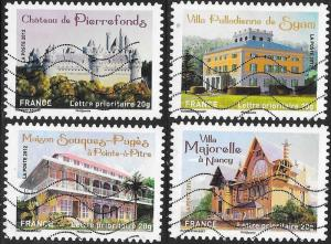 France 4249-4252 Used - ‭‭‭Historic Residences