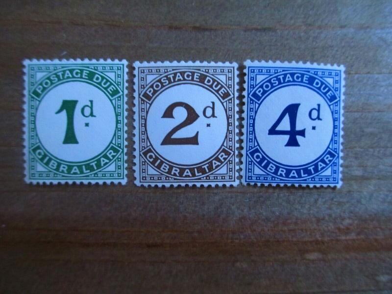 Gibraltar #J1-3 Mint Never Hinged- (1Z9) I Combine Shipping!