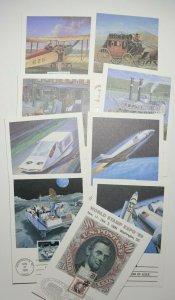 World Expo 89 Philatelic Maxi Card FDC set9 UPU 1989 2410 c122 c125 2434-3437