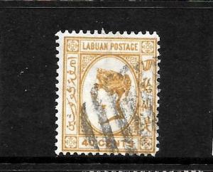 LABUAN  1892-93  40c  QV  FU  signed  SG 47