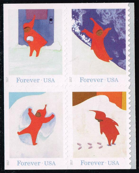US #5243-5246 The Snowy Day Set of 4; MNH (4.00)
