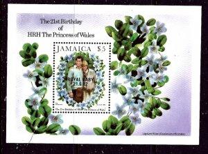 Jamaica 545 MNH 1982 Princess Diana 21st Birthday    (ap3135)