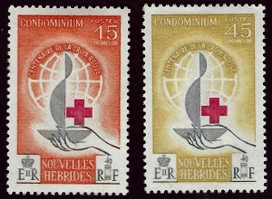 French New Hebrides #110-111 Mint VF Value $18.00...Bid to Win!!