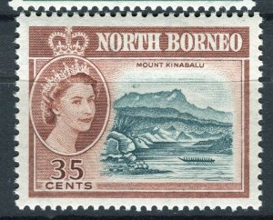NORTH BORNEO; 1961 early QEII pictorial issue fine Mint hinged 35c. value
