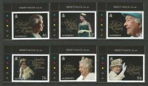 Alderney 2018 MNH Queen Elizabeth II Coronation 65th Anniv 6v Set Royalty Stamps