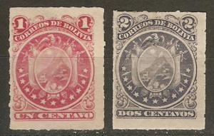 Bolivia 24-5 MH F/VF 1887 SCV $8.00
