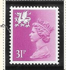 Great Britain-Wales & Monmouthshire # WMMH53 (MNH) $1.35