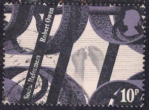 GB 1976 QE2 10p Social Reformers SG 1002 used ( B483 )