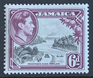 JAMAICA 1950 6d SG128a LIGHTLY MOUNTED MINT.. Cat £3.75