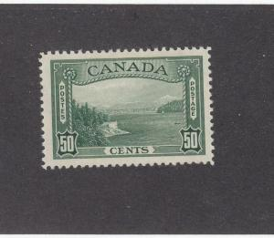 CANADA (MK1407) # 244  VF-MH  50cts 1938 VANCOUVER HARBOUR / GREEN CAT VALUE $60