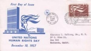 UN #57 3c HUMAN RIGHTS 1957 - Unknown