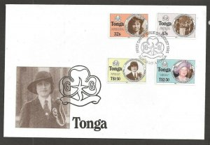 1985 Tonga Girl Guides 75th anniversary Type 'A' FDC