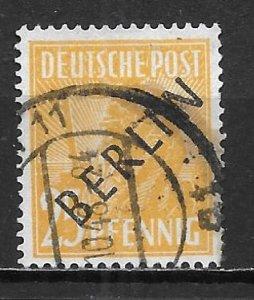 Germany Berlin 9N10 25pf Workers single Used