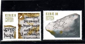 IRELAND #411-412  1977  NATIONAL LIBRARY    MINT  VF NH  O.G
