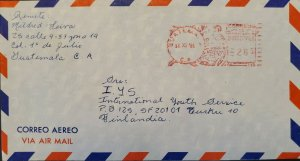 A) 1981, GUATEMALA, FROM ZONA 19 TO FINLAND, METER STAMP, AIRMAIL