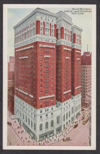 Unused Postcard: New York City – The Hotel McAlpin at 34th Street and Broadway