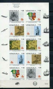 Venezuela 1991 Sheet Mi 2717 note Imperf Unused RARE Discovery of America v3001