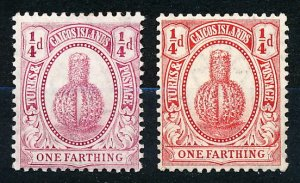 Turks & Caicos Islands #23-24  Set of 2 MH