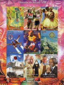 Sao Tome and Principe 2004 PELE (Football) ROTARY CLUB Sheetlet IMPERFORATED MNH