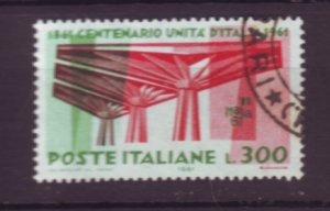 J22645 Jlstamps 1961 italy hv of set used #844 exhibition