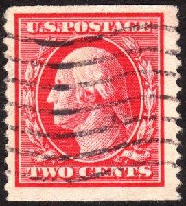 1910, US 2c, Washington, Used, Sc 388