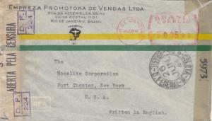 1944, Rio de Janeiro, Brazil to New York, NY, Censored, See Remark (C2449)