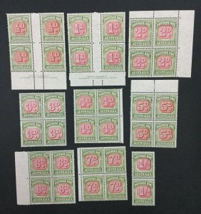 MOMEN: AUSTRALIA SC #J71/80 1946-57 MINT OG NH/H LOT #192103-992