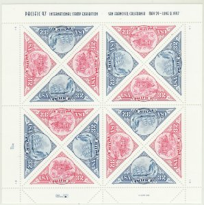 STAMP STATION PERTH-USA #3130-3131 MNH MS Pacific 97 Plate B1 Position 2