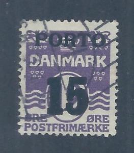 DENMARK SC# J38 F/U 1934