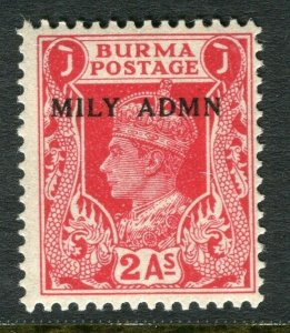BURMA; 1945 early GVI MILY ADMIN issue fine Mint hinged 2a. value