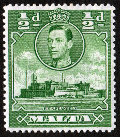 Malta KGVI 1938 0.5d Green SG218 Mint Hinged