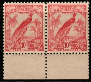 NEW GUINEA SG188 1932 10/= PINK MNH PAIR