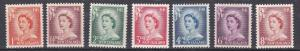 New Zealand # 306-312, Queen Elizabeth Definitives, LH, 1/3 Cat.