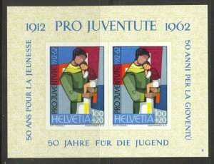 Switzerland, 1962 Pro Juventute Souvenir Sheet, MNH, no faults