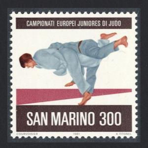 San Marino European Junior Judo Championships San Marino 1v SG#1170