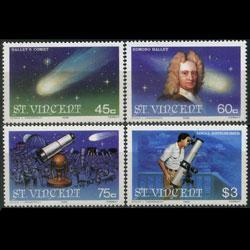 St. Vincent MNH  918-21 Halley's Comet 1986