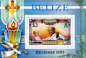Belize 1983 POPE JOHN PAUL II s/s Perforated Mint (NH)