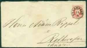 AUSTRIA 5kr POSTAL CARD TIED DEBRECZEN, c. 1870's