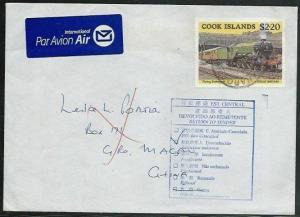 COOK IS 2004 airmail cover to Macau - returned to sender.............38095