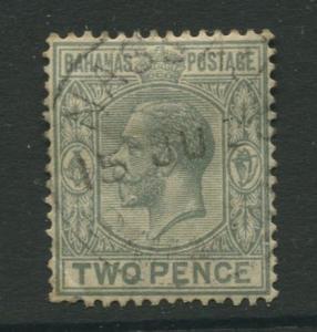 Bahamas - Scott 74 - KGV Definitive - 1927 - Used - Single 2p Stamp