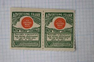 New York Journal Frank sell want ads fee pre-paid Newspaper pay revenue advert