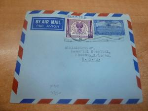 Pakistan 10AS A/M Envelope uprated 10A to USA (70bed)