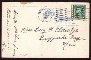 $Florida Machine Cancel Cover, Fernandina, 2/24/1921, 3 recorded impressions