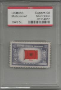 918 Albania Superb 98  MINT OGnh stamp