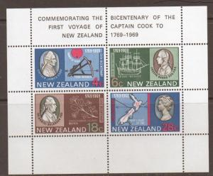 NEW ZEALAND SGMS910 CAPTAIN COOK MNH
